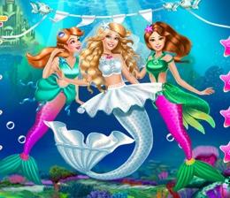 Deniz Kızı Gelin Barbie Ve Nedimeleri