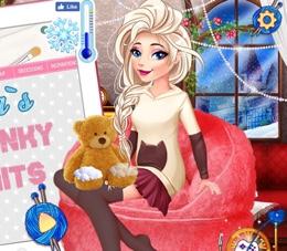 Elsa'nın Salaş Örgülü Giysileri