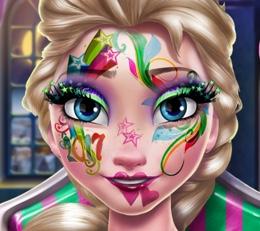 Elsa'nın Yılbaşı Yüz Makyajı