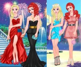 Elsa Ve Ariel'in Muhteşem Elbiseleri