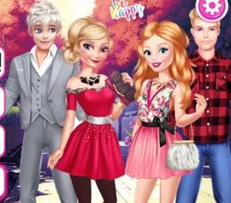 Elsa Ve Barbie Randevularına Hazırlanıyor