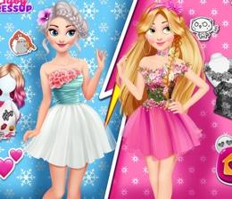 Elsa Ve Rapunzel Çekişmesi