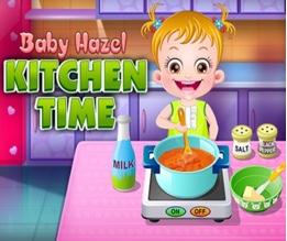 Hazel Bebek Mutfakta