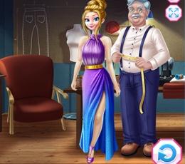 Kraliyet Terzisi Elsaya Elbise Dikiyor