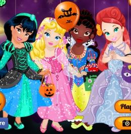 Küçük Prenseslerin Cadılar Bayramı Kostümleri