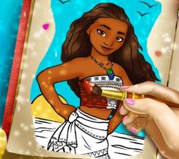 Moana'nın Boyama Kitabı