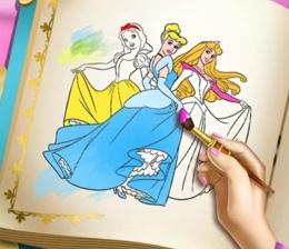 Prensesler Boyama Kitabi Oyna