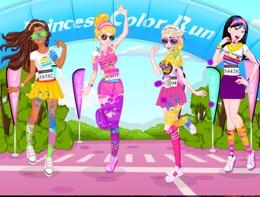 Prensesler Renk Koşusunda