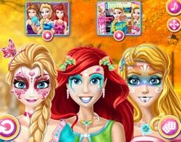 Prenseslerin Kostümlü Balo Makyajı