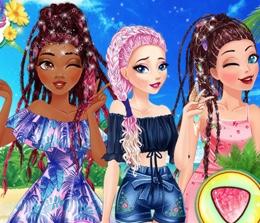 Prenseslerin Örgülü Saçları