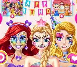 Prenseslerin Parti Yüz Boyaması