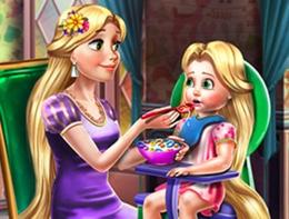 Rapunzel Kızını Besliyor