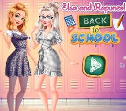 Rapunzel Ve Elsa İle Okula Dönüş
