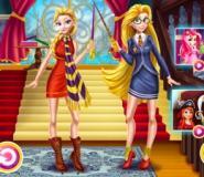 Elsa Ve Rapunzel Büyücülük Okulunda