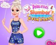 Elsa Ve Rapunzel Pijama Partisi