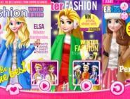 Prensesler Kış Dergileri Kapağında
