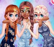 Prensesler Yüz Boyama Partisinde