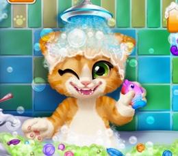 Sevimli Kedini Yıka